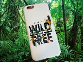 Apple Iphone 6 Plus / 6S Plus Wit siliconen hoesje (Life is wild and free)