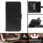 Barchello Lederen Apple iPhone X / Xs Hoesje - Book Case - Zwart
