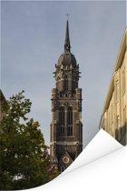 Kerk van St Dionysius in de Duitse stad Krefeld Poster 80x120 cm - Foto print op Poster (wanddecoratie woonkamer / slaapkamer) / Europese steden Poster