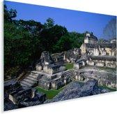 Maya-ruïnes van oude stad Tikal Plexiglas 90x60 cm - Foto print op Glas (Plexiglas wanddecoratie)