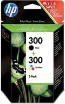 HP 300 - Inktcartridge / Zwart / Kleur / Dual-pack / blister