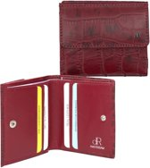 dR Amsterdam Croco 24535 Billfold - Red