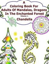 A Coloring Book for Adults of Mandalas, Dragons in the Enchanted Forest. Vol.1