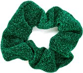 Scrunchie Glitter Elastiek - Groen