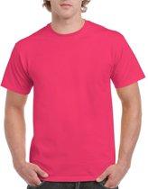 Fuchsia roze katoenen shirt voor volwassenen L (40/52)