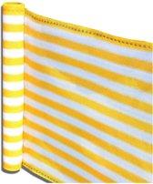 Balkonscherm - balkondoek - zonwering en privacy - 5 meter lengte - Wit en geel