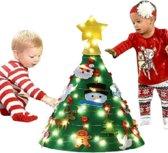 Vilten Kerstboom - Kinderkerstboom - 3D - Kinderplezier - Kinder kerstboom - Kerstboom Voor Kinderen – Staand - Kerst - Kerstcadeau - DIY - Gratis LED Verlichting