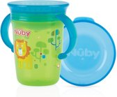 Nûby - 360° Wonder cup met handvatten - 240ml - groen - 6m+