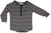 Ebbe - jongens shirt - gestreept - winter navy sand