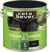 Cetabever Tuin Schuur & Tuinhuis Beits -  Dekkend - Zwart - 2,5 liter