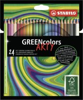 Afbeelding van STABILO GREENcolors Kleurpotloden ARTY Etui 24 Kleuren