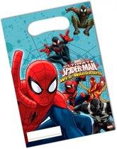 Spiderman Warriors feestzakjes 6 stuks