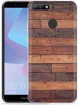 Huawei Y6 2018 Hoesje Houten planken