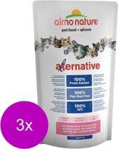 Almo Nature Hfc Cat Brokjes Alternative 750 g - Kattenvoer - 3 x Zalm&Rijst