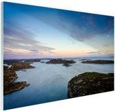 Noordzee zonsondergang Glas 180x120 cm - Foto print op Glas (Plexiglas wanddecoratie) XXL / Groot formaat! / Zee en Strand
