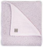 Jollein Confetti Knit Ledikantdeken Vintage Pink/Teddy 100 x 150 cm