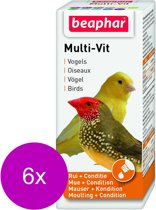 Beaphar Multi-Vitamine Vogels - Vogelapotheek - 6 x 20 ml