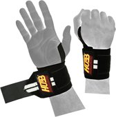 AA Products - Pro Wrist Wraps Voor Fitness Gym Sporten Heavy Weight - Unisex - One Size- Zwart