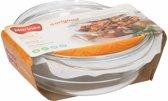 Glazen ronde ovenschaal met deksel 1,9 liter