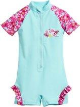 Playshoes UV zwempakje Kinderen Flamingo - Aquablauw/Roze - Maat 86/92