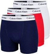 Calvin Klein Trunk Heren Boxershorts - 3-pack - Wit/Blauw/Rood - Maat S