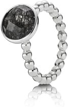 Pandora 190619BRU ring zilver met tourmalinated quartz mt 58