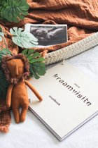 Invulboek - Kraamvisite boek - Gesneden - Hout