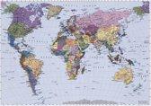 World Map Fotobehang 270x188cm