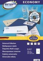 Avery ELA027 Zelfklevend printeretiket (100 A4-vellen, wit)