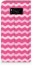Samsung Galaxy S8 Plus Uniek Standcase Hoesje Waves Pink