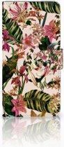 Samsung Galaxy S7 Edge Uniek Boekhoesje Flowers