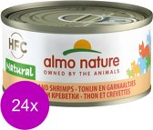 Almo Nature - Tonijn en Garnalen - Kattenvoer - 24 x 70 g