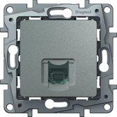 Legrand NILOÉ inbouw telefoon RJ11 stopcontact - enkelvoudig - aluminium