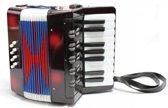 Zwarte accordeon voor kinderen