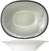 Cosy & Trendy Fez Green Diep Bord - Ovaal - 17.5 cm x 21.5 cm - Set-6