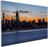 New York City Glas 60x40 cm - Foto print op Glas (Plexiglas wanddecoratie)