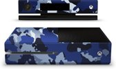 Xbox One Console Skin Camouflage Blauw