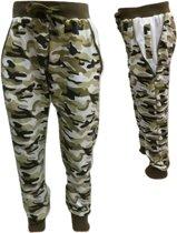 Jongens camouflage broek  groen maat 98/104