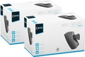 Cavus CMH3BS Muurbeugel voor Heos 3 speaker - Draaibare en kantelbare muursteun - Zwart - 2 stuks