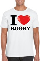 I love rugby t-shirt wit heren M