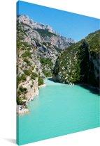De Gorges du Verdon in Frankrijk Canvas 80x120 cm - Foto print op Canvas schilderij (Wanddecoratie woonkamer / slaapkamer)