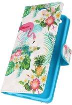 Huawei P10 Lite 3D Print Flamingo | bookstyle / book case/ wallet case Hoesje  | WN™