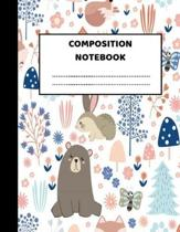 Composition Notebook: Pretty Wide Ruled Paper Notebook Journal - Cute Wide Blank Lined Workbook for Teens Kids Students Girls for Home Schoo