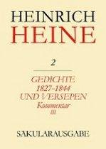 Gedichte 1827-1844 und Versepen. Kommentar III