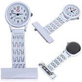 Verpleegster horloge Classic- metaal- WIT