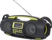 Nikkei NGB3601 Fatboy portable radio boombox met bluetooth, usb, SD, Aux-in en powerbank functie - Groen
