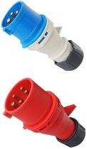 CEE-contactstop 3p. 16A-250Vblauw EN60309