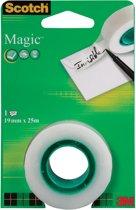 24x Scotch plakband Magic  Tape 19mmx25 m, blister met 1 rolletje