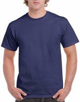 Donkerblauw katoenen shirt voor volwassenen L (40/52)