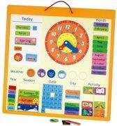 Viga Toys Magnetische Kalender Engels 45 Cm Multicolor